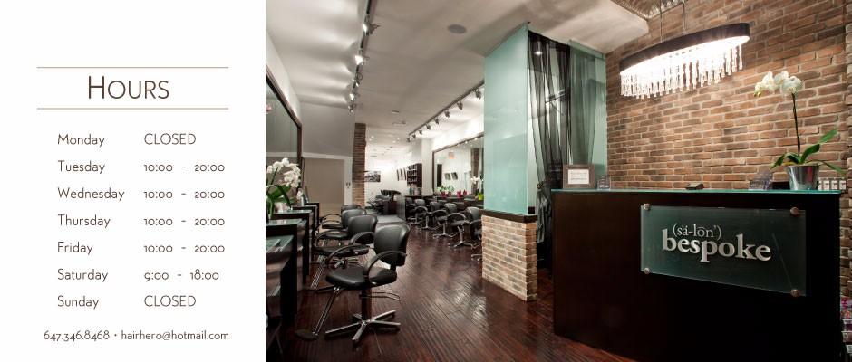 Salon Bespoke Hours